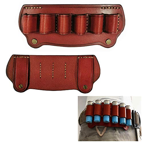 FIRECLUB - Rifle táctico de Piel de Vaca para Caza, 6 Disparos, Calibre 12, cinturón de Cartucho, Bolsa para Escopeta