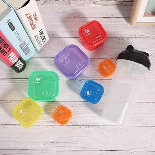 Recipiente de comida 7 cajas/taza colorido resistente, adecuado para ejercicio de pesca, deportes de carrera, senderismo, montañismo, picnic al aire libre