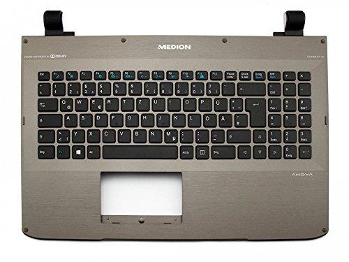 MEDION Tastatur inkl. Topcase DE (deutsch) schwarz/grau Original 40046407 Akoya S6212T, S6611T, S6615 / The Touch 300 (MD 98548)