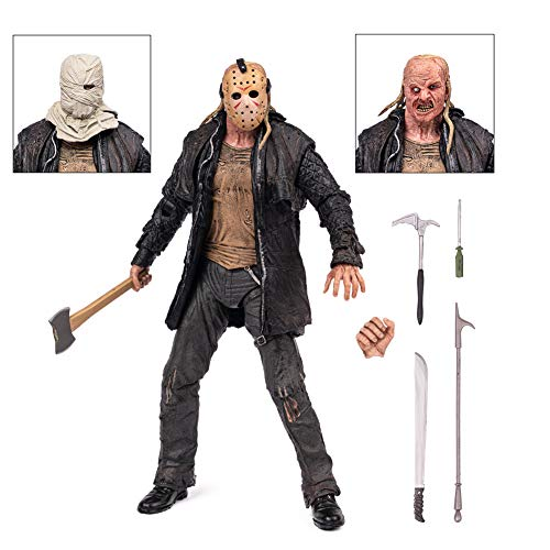 BODAN Jason Action Figure NECA Friday The 13th Jason Voorhee Statue Model Doll Horror Collection Gifts Ultimate 2009 Remake PVC - 7' Scale