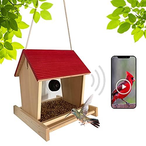 TBNOONE Bird Feeder Camera(with 128G TF Card),Bird Feeder House with Spy Magnetic Wireless WiFi...