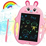 JARVANIA LCD Writing Tablet, Color LCD Writing Tablet for Kids, Toys for Girls and Boys, Gifts for Girls and Boys, LCD Drawing Board for Kids (Pink)