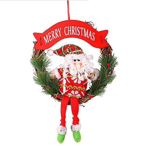 2020 Christmas Creative Muppet Wall Stickers Santa Claus Whole-Length Fun Doll, Decoration & Hangs,for Christmas Day (B)