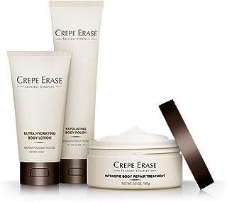 Crepe Erase – Starter Daily 3 Piece Kit – Intensive Body Repair Treatment – Exfoliating Body Polish – Ultra Hydrating Body...