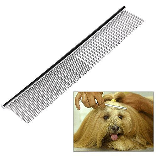 ITERY Dog Comb, Pet Grooming Tools-deshedding Brush Stainless Steel Dog Comb with