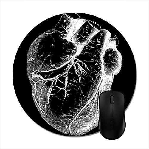 N\A Alfombrilla de ratón con Forma de corazón anatómicamente Correcta: Elegante Accesorio de Ordenador de Oficina de 7.87 Pulgadas