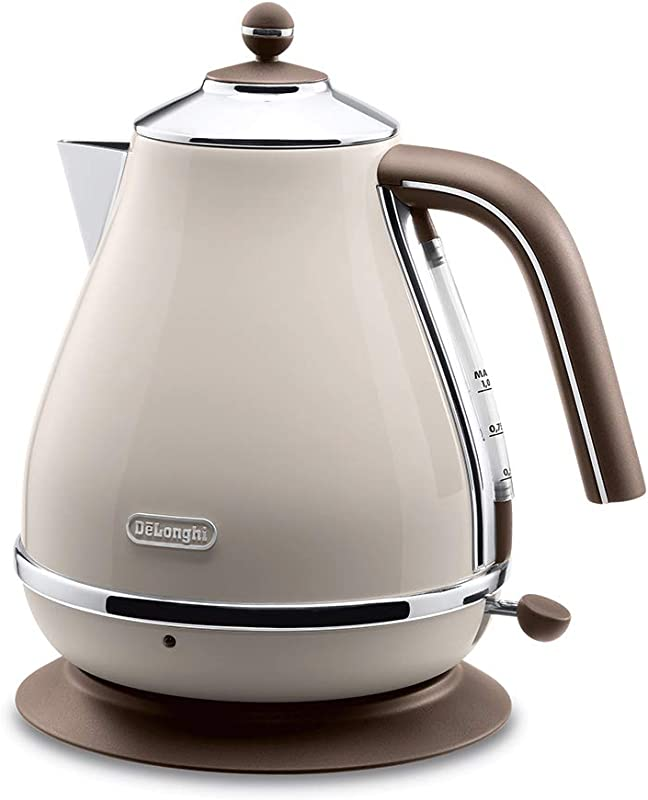 Delonghi Electric Kettle 1 0L ICONA Vintage Collection KBOV1200J BG Dolce Beige Japan Domestic Genuine Products