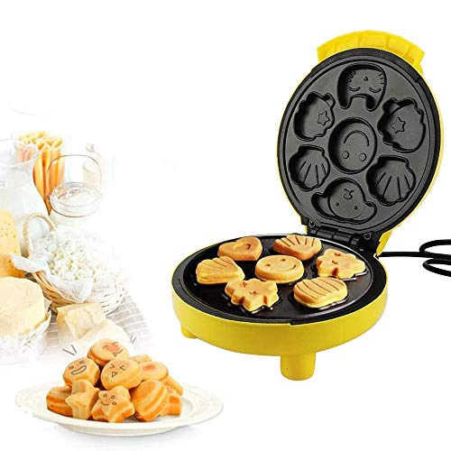 LIULIU Mini Cartoon Kuchenmaschine Waffeleisen, Mini Kinder Cartoon Kuchen Frühstücksmaschine Vollautomatische Temperaturregelung Kann Kuchen lieben