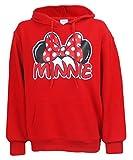 Disney Exclusive Adults Minnie Mouse Fleece Hoodie Red Medium