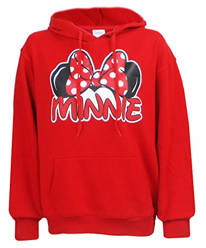 Disney Exclusive Adults Minnie Mouse Fleece Hoodie Red Medium