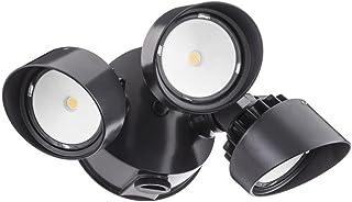 Lithonia Lighting OLF 3RH 4000K 120 PE BZ M4 Adjustable LED Security Floodlight Dusk-to-Dawn Photocell, 120 Volts, 36 Watts, Bronze