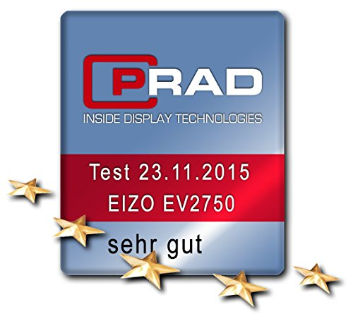 EIZO FlexScan EV2750-BK 68,5 cm (27 Zoll) Ultra-Slim Monitor (DVI-D, HDMI, USB 3.1 Hub, DisplayPort, 5 ms Reaktionszeit, Auflösung 2560 x 1440) schwarz