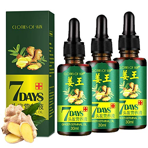 3 PACK Ginger Germinal Oil ,2021 Hair Growth Ginger Essential Oil Hair Growth Oil Hair Loss Treatment For Women and Men