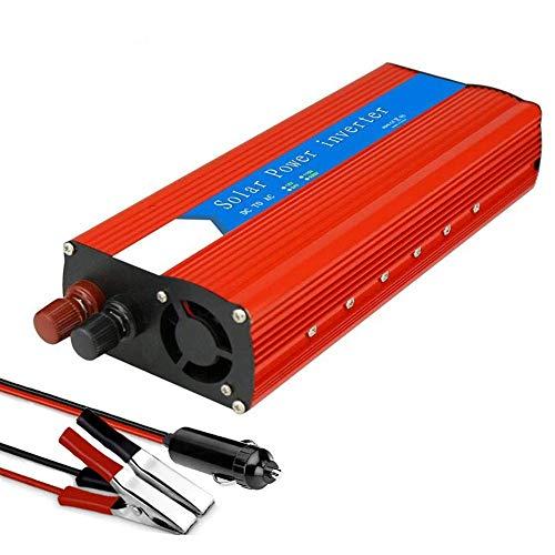 Inversor 3000 W (6000 W pico) Inversor de corriente para automóvil, 12 V 220 V, onda sinusoidal pura, fuente de alimentación portátil para camión, para portátil, camping, automoción, iPad, teléfonos