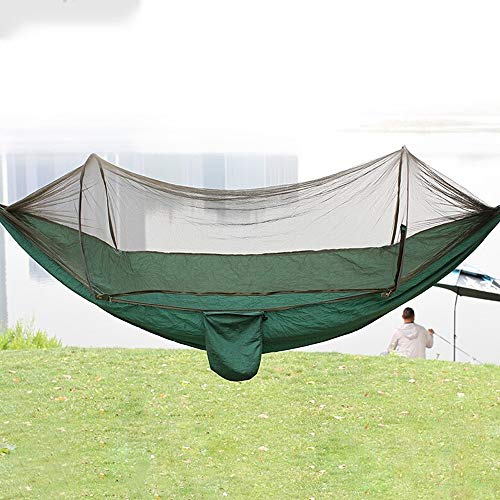 LF-hammock Hamac De Camping en Plein Air, Hamac avec sous-réseau Moustiques Insectes, Hamac Simple Double, Hamac Léger, Convient Au Sac À Dos, Survie, Camping en Plein Air (Color : Green)