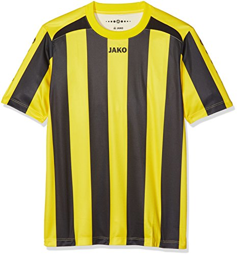 JAKO Kinder Fußballtrikots KA Trikot Inter, Citro/Schwarz, 116