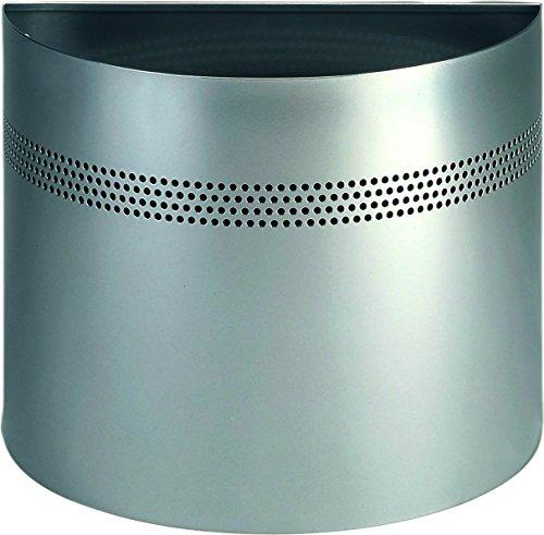 Durable 331623 - Cestino Semicilindrico 20/P 30, Acciaio Verniciato, Bordo Decorativo Traforato, 20 Litri, 415 x 320 x 210 mm, Argento