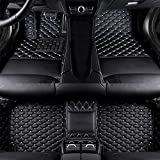 Coche Mat Suelo Alfombra Cuero Alfombrillas Antideslizantes Esteras Impermeable Moqueta Set Delanteras y Traseras Cobertura Completa para BMW 7 series 2004-2008 Accesorios