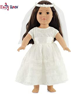 Emily Rose 18 Inch Doll Bridal Gown | Doll Communion Dress or Wedding | Fits 18