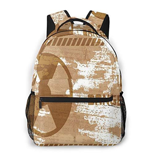 Rucksack Männer und Damen, Laptop Rucksäcke für 14 Zoll Notebook, Warnzeichen Kinderrucksack Schulrucksack Daypack für Herren Frauen