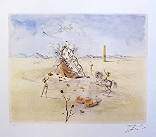 Leos Coffers Artwork by Salvador Dali Cosmic Horseman Limited Edition Facsimile Signed Lithograph Print. After The Original Painting or Drawing. Measures 24 Inches X 22 Inches