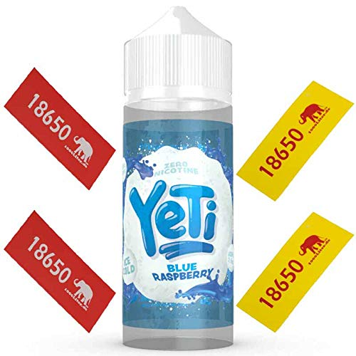 YETI Eliquid Liquid ALLE SORTEN 100ml + 4 Akku Sleeves (Blue Raspberry)