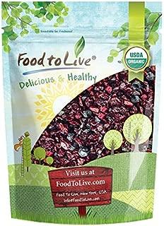Organic Mixed Berries, 1 Pound — Non-GMO Dried Blueberries, Cranberries, and Montmorency Tart Cherries, Kosher, Lightly Sweetened, Unsulfured, Bulk