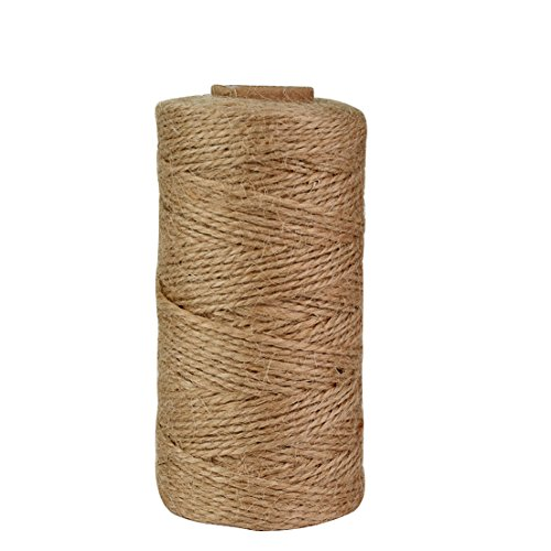 328 Feet Natural Jute Twine, Jmkcoz Arts Crafts Twine Industrial Packing Materials Durable Natural Twine DIY Gift Decoration Gardening Application Jute Rope 100 M