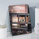 Patrón De Arquitectura De Calle PU Cubierta De Estuche Plegable De Cuero con Despertador Automático/Sueño para Kindle Paperwhite 10Th Generation Modelos Anteriores/Kindle 4, 5, 6, 7, 8, 9, 10