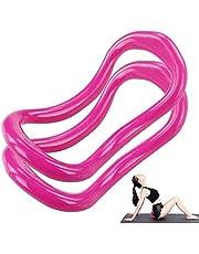 yyuezhi Yoga Ring Pilates Cirkels Fascia Stretching Ring Training Tool Fascia Stretching Ring Training Tool Roze Yoga Ring Pilates Ring Geweldig voor Yoga Mobiliteit Pilates Kracht Apparatuur Stretch 2 Stks