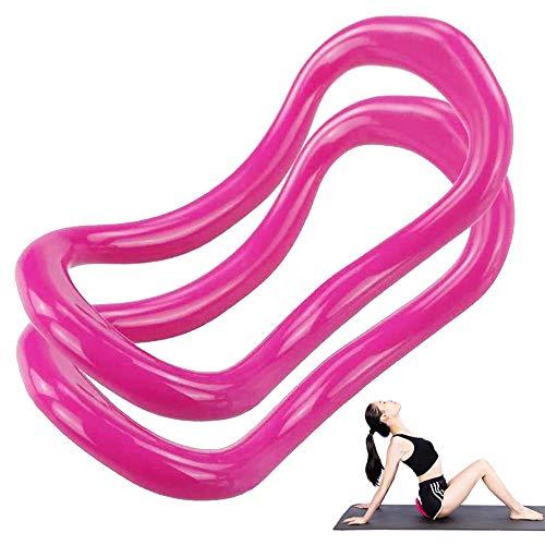 yyuezhi 2 Pezzi Anello Pilates Anello Yoga Anelli Yoga Pilates Circles Yoga Ring Fitness Circle Training per Stretching e Rinforzi Torace Cosce Arms Core Ideale per Dolori alle Spalle Braccia E Gambe