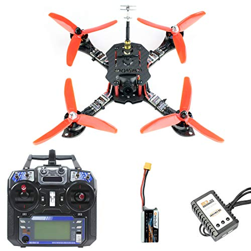 QWinOut 210mm RTF FPV Quadcopter Racing Drone Mini Racer with Flysky FS I6 Transmitter F4 Pro(V2) Flight Controller