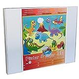 Arenart | Pack 6 Láminas de Dinosaurios 45x35cm| para Pintar con Arenas de Colores | Manualidades para Niños | Dibujo Infantil | +6 años