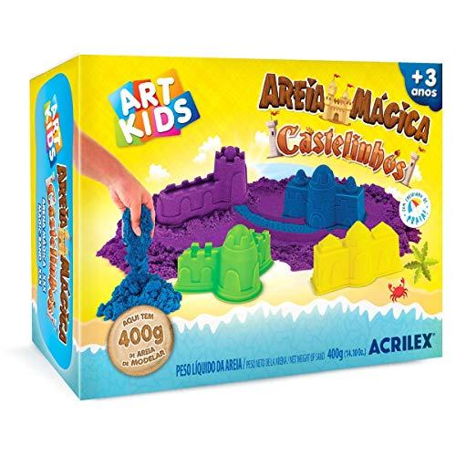 Massa Areia Castelos, Acrilex, 400 g