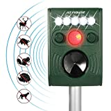 Best Solar Pest Repellers - Wikomo Ultrasonic Animal Repeller, Solar Powered Waterproof Outdoor Review