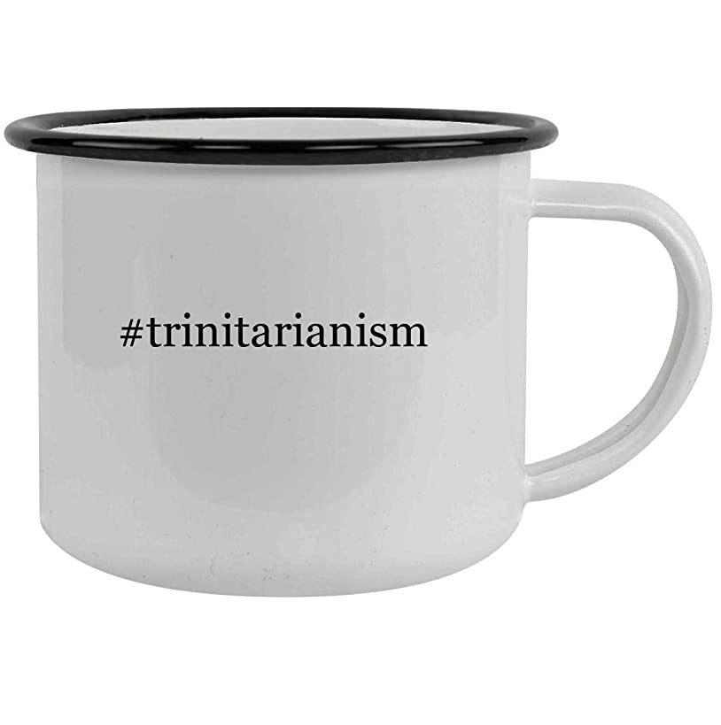 #trinitarianism - 12oz Hashtag Stainless Steel Camping Mug, Black