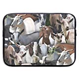 TnsiOawnmq Animals Goats 13-15 Inch Laptop Sleeve Bag - Briefcase Sleeve Bags Cover for MacBook Pro/Notebook,Water Resistant, Black