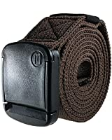 BETTA 1.5 Inch Wide Men's Elastic Stretch Belt with Fully Adjustable High-Strength Buckle (Large, Brown)