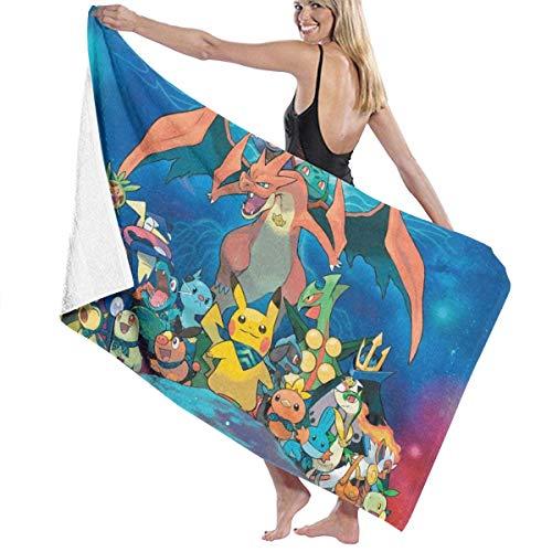 AGHRFH Poke-mon Strandtuch Badetücher Badetücher Zubehör Pool Handtuch