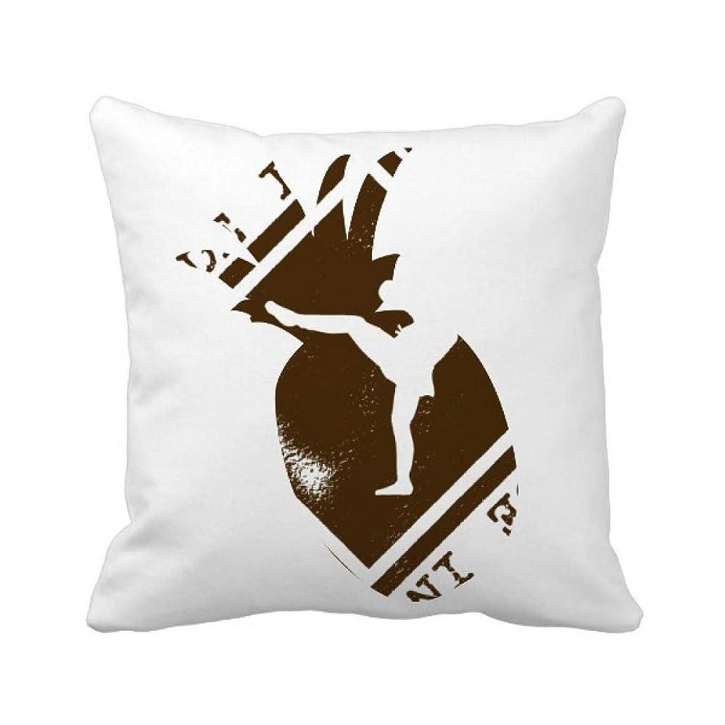 独特ののため適度なタイボクシングアートとイラストで作る パイナップル枕カバー正方形を投げる 50cm x 50cm
