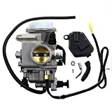 Carbhub Carburetor for Honda Foreman 450 TRX 450 TRX450ES TRX450FE TRX450FM TRX450S 1998-2004 Aftermarket Carb with Throttle Base Cover & Screw