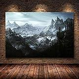 caoyuanbao Póster E Impresiones En Lienzo Skyrim The Elder Scrolls, Cuadro Artístico para Pared, Decoración, Pintura Sin Marco (40X50Cm) C1072