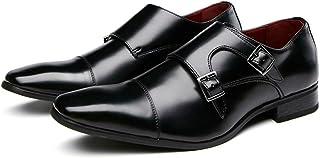 Chaussures moine pour hommes,Chaussures en cuir d'affaires de bureau décontracté Chaussures de robe de banquet de fête de ...