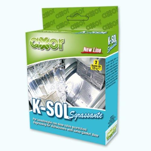AXOR K-SOL Sgrassante per Lavastoviglie, 2 buste da 125gr