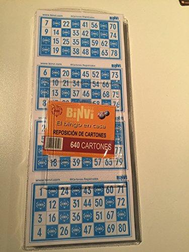 Binvi 640 cartones de Bingo