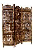 Marrakech Accessoires–Biombo separador de madera Abhi Nava 150x 180cm de...