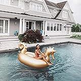 QYWSJ Flotador Inflable Gigante Piscina del Seahorse, Isla Piscina Piscina Verano Tumbonas Playa Flotadores,Juguetes Divertidos para Fiesta En Playa, para Niños Adultos(275 * 140 * 120 cm)