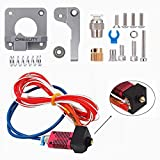 Creality Upgrade Aluminum MK-8 Extruder Feeder Frame Drive 1.75mm Filament, 3D Printer Assembled Extruders Hotend Kit with Capricorn Premium XS Bowden Tubing for Ender 3/Ender 3 Pro