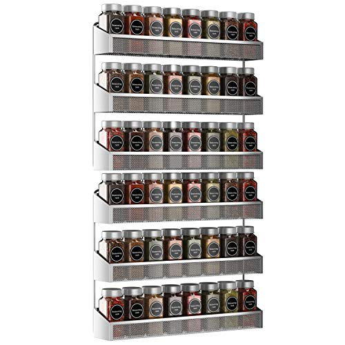 Auledio 2 Pack Spice Rack Organizer 3 Tier Countertop Stand or Wall Mounted Storage Rack Hanging Shelf for Kitchen Cabinet Cupboard Pantry Door or Bathroom Shower Cosmetic  Chrome