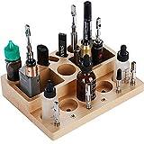 Organizer da scrivania in legno per sigarette elettroniche Supporto da scrivania per penne vape (245 mm x 180 mm x 50 mm)